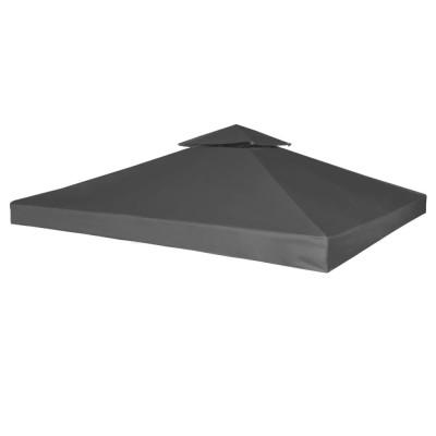 Toile de Rechange pour Gazebo Tonelle Gris foncé 270 g/m²