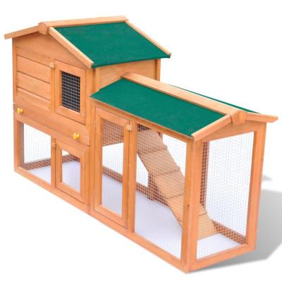 Grande Cage Clapier Extérieur en Bois pour Lapins