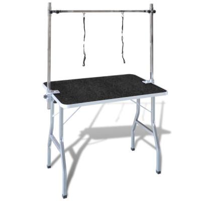 Table de Toilettage Ajustable pour Chiens Chats 2 Potences