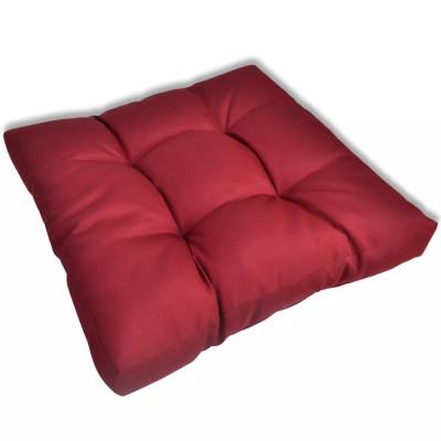 Coussin de siège 60 x 60 x 10 cm Rouge vineux