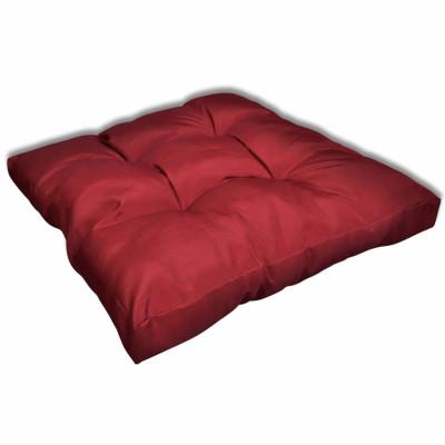 Coussin de siège 80 x 80 x 10 cm Rouge vineux