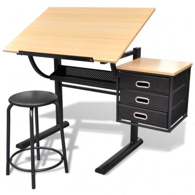Table à dessin inclinable avec tabouret