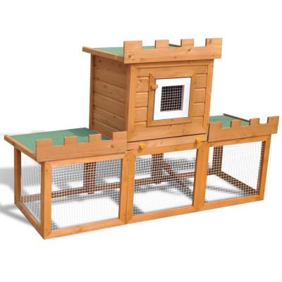 Grande Cage Clapier Extérieur pour Lapins en Bois