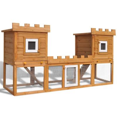 Grande Cage Clapier Extérieur pour Lapins en Bois Double clapiers