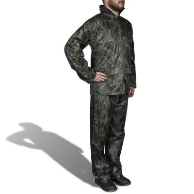 Combinaison de pluie avec capuche 2 pièces camouflage M