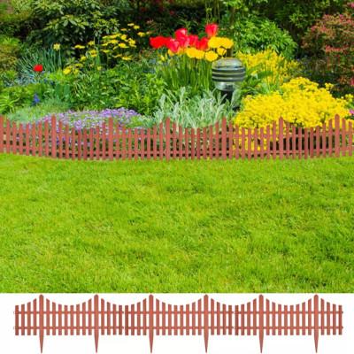 Bordures de jardin brun 17 pièces/10 m