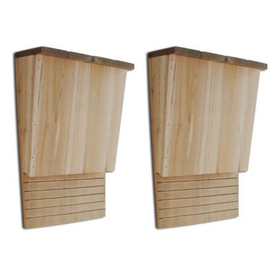 Set de 2 maisons pour chauves-souris 22 x 12 x 34 cm