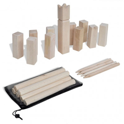Kit de jeu Kubb en bois