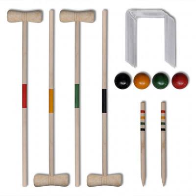 Set de croquet en bois 4 joueur