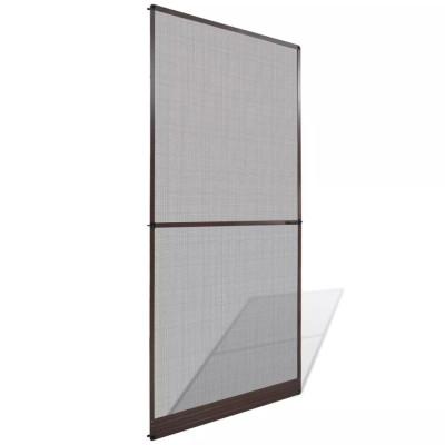Moustiquaire à charnières marron pour porte 100 x 215 cm