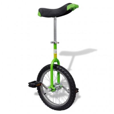 Monocycle ajustable vert