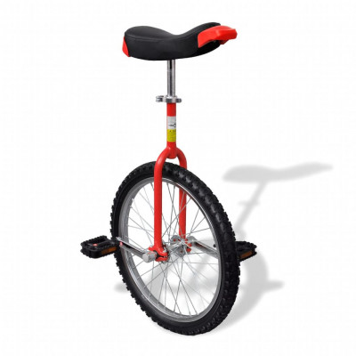 Monocycle ajustable rouge