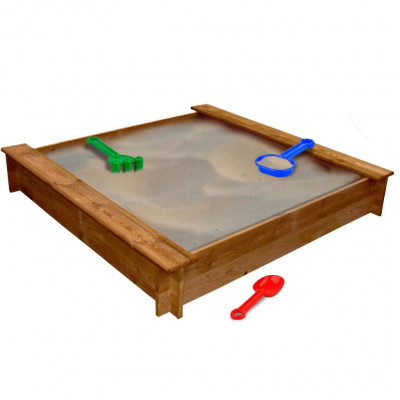 Bac à sable carré en bois