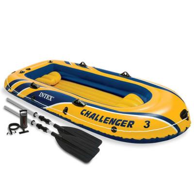 Intex Challenger 3 Ensemble canot pneumatique avec rames et pompe