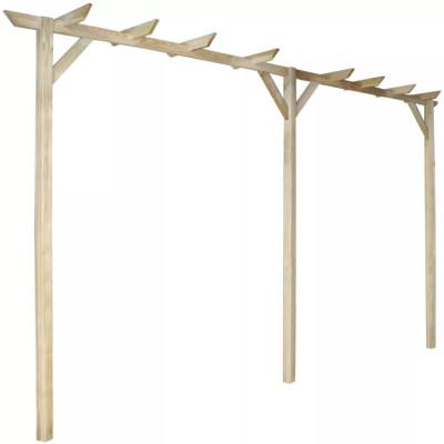 Pergola de jardin en bois 400 x 40 x 205 cm