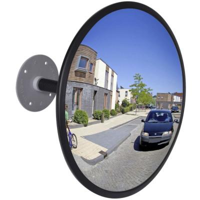 Miroir convexe d'intérieur noir en acrylique 30 cm