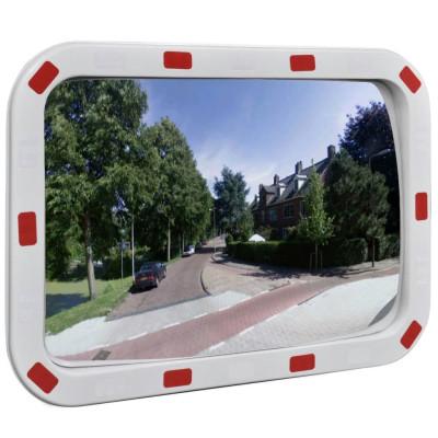 Miroir convexe rectangle avec réflecteurs 40 x 60 cm