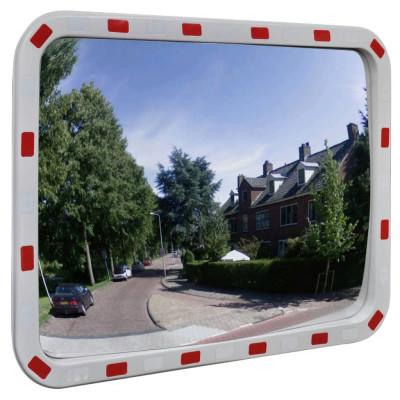 Miroir convexe rectangle avec réflecteurs 60 x 80 cm