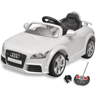 Voiture électrique pour enfant Audi TT RS blanche avec télécommande