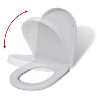Abattant WC à fermeture en douceur Blanc Carré