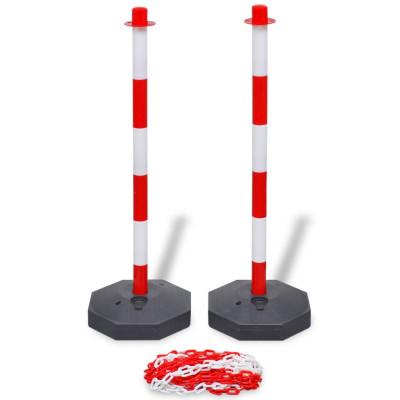 Poteaux de balisage à chaîne de 10 m