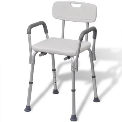 Chaise de douche Aluminium Blanc