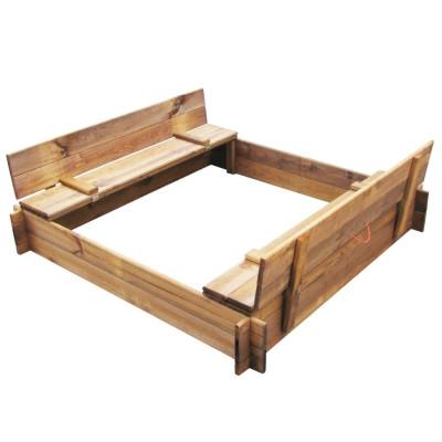 Bac à sable carré en bois imprégné