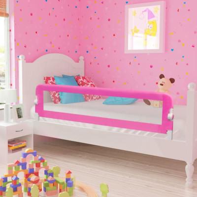 Barrières de lit pour enfants 150 x 42 cm Rose