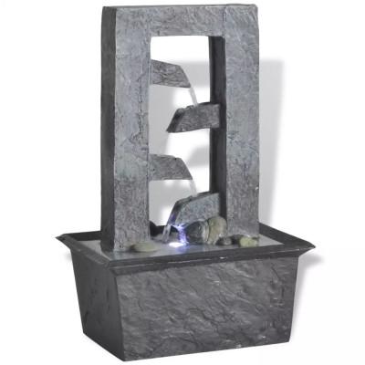 Fontaine d'intérieur avec lumière LED Poly-résine