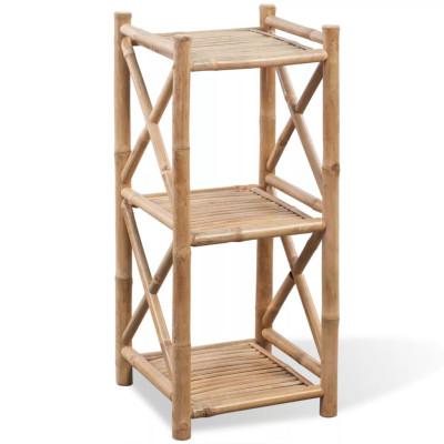 Etagère à 3 paliers en bambou