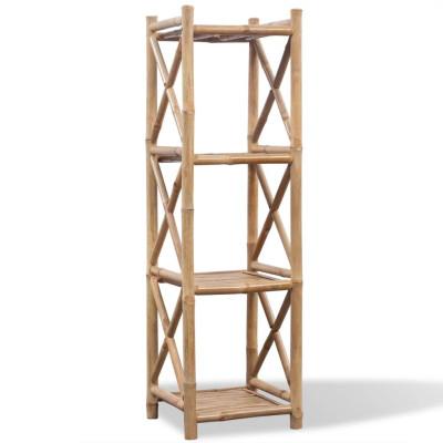 Etagère à 4 paliers en bambou