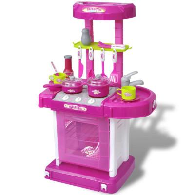 Cuisine-jouet pour enfants avec effets lumineux/sonores Rose