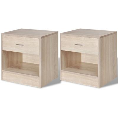 2 tables de chevet avec tiroir Couleur en chêne