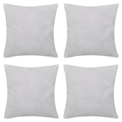 4 housses de coussin en coton 50 x 50 cm Blanc