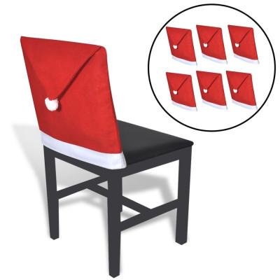 6 Housses pour chaises en forme de père noël