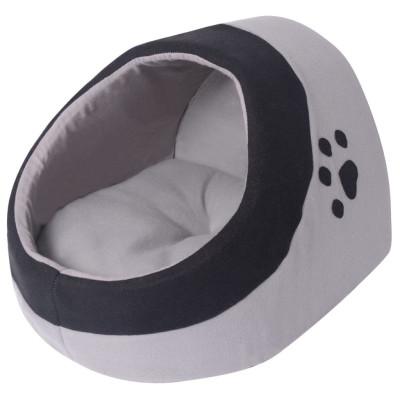 lit pour chat taille M gris et noir