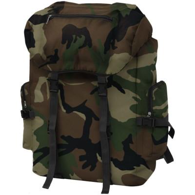 Sac à dos en style d'armée 65 L Camouflage