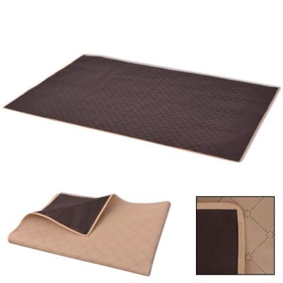 Couverture de pique-nique Beige et marron 100 x 150 cm