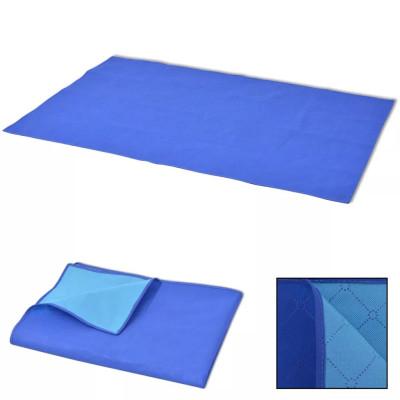 Couverture de pique-nique Bleu et bleu clair 150 x 200 cm